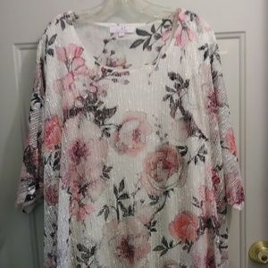 Floral and Sequin Top
